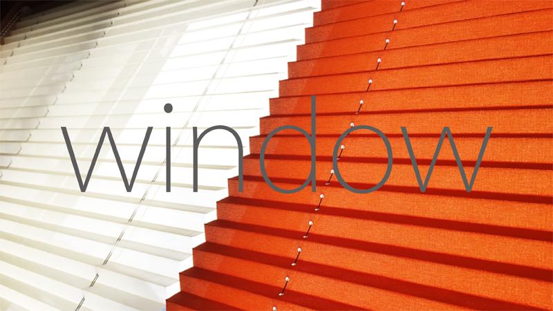 窓を色で愉しむ